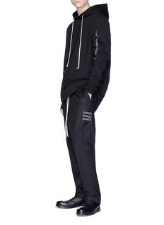 Rick Owens DRKSHDW Slogan appliqué drop crotch poplin pants