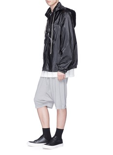 Rick Owens DRKSHDW Retractable hood windbreaker jacket