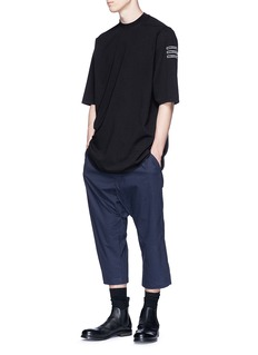 Rick Owens DRKSHDW Drop crotch cropped jogging pants