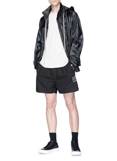 rick owens leather hooded