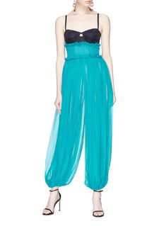 Dolce & Gabbana Bustier ruched balloon jumpsuit