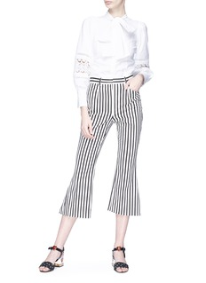 Dolce & Gabbana Stripe cropped flared pants