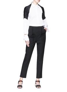 Dolce & Gabbana Floral jacquard shoulder cardigan
