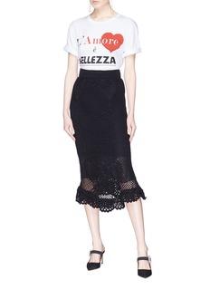 Dolce & Gabbana Crochet lace fishtail pencil skirt