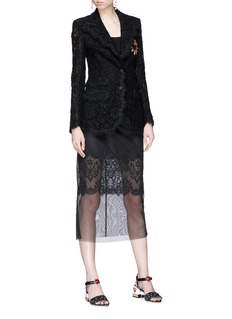 Dolce & Gabbana Mesh overlay midi skirt