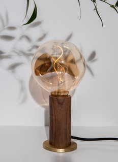 Tala Walnut touch lamp