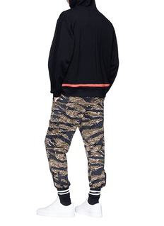 MAGIC STICK 'Protect Ya' contrast trim zip hoodie