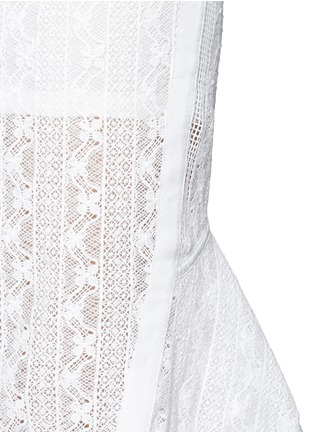 Detail View - Click To Enlarge - Mo&Co. - Back peplum hem guipure lace skirt