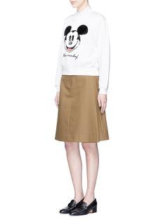 MO&Co.Mickey Mouse sequin appliqué cotton sweatshirt