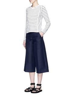 MO&Co.Stripe long sleeve T-shirt