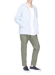 bassike Stripe windbreaker zip hoodie