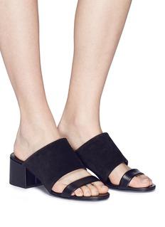 3.1 Phillip Lim 'Cube' double band suede sandals