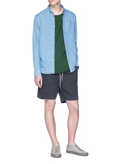 bassike 'Battered' twill shorts