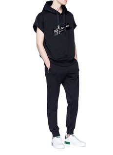 DOLCE & GABBANA 品牌标志纯棉短袖连帽卫衣