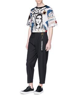Dolce & Gabbana Logo strap cropped pants