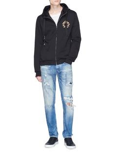 Dolce & Gabbana Sacred heart appliqué zip hoodie