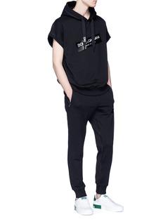 DOLCE & GABBANA 品牌标志纯棉休闲裤