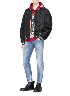 Dolce & Gabbana Slogan jacquard coach jacket