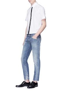 Dolce & Gabbana Logo jacquard placket short sleeve shirt