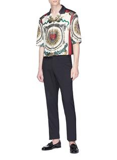 Dolce & Gabbana Sacred heart print silk pyjama shirt