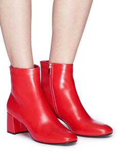 Pedder Red Leather ankle boots