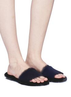 Avec Modération Calfhair slide sandals