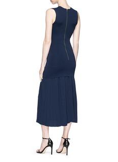 Dion Lee Pleated skirt dense knit midi dress