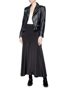 Dion Lee Cropped leather biker jacket