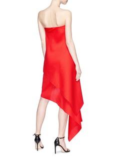 Dion Lee Asymmetric sail virgin wool-silk skirt