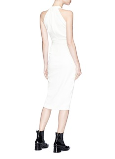 Dion Lee 'Whitewash' pleated halterneck dress