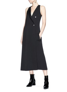 Dion Lee Deconstructed twill maxi trench dress