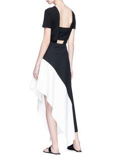 Rosetta Getty Colourblock asymmetric knit midi skirt