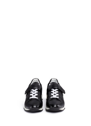 Front View - Click To Enlarge - Pierre Hardy - 'Comet' cube midsole leather sneakers