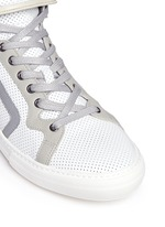 'Les Baskets' perforated leather high top sneakers