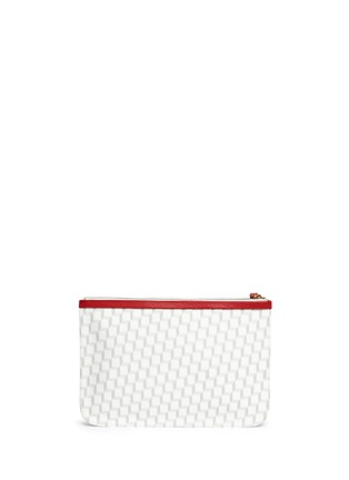 Back View - Click To Enlarge - Pierre Hardy - Cube print zip pouch