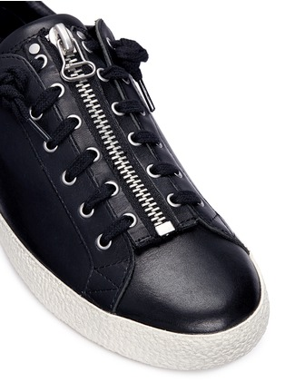 Detail View - Click To Enlarge - Ash - 'Nirvana' cutout star patch leather zip sneakers
