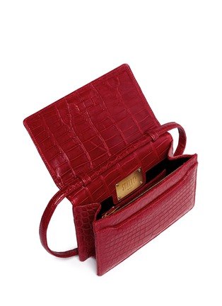 Detail View - Click To Enlarge - Stalvey - Small alligator leather crossbody clutch