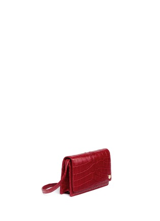 Figure View - Click To Enlarge - Stalvey - Small alligator leather crossbody clutch