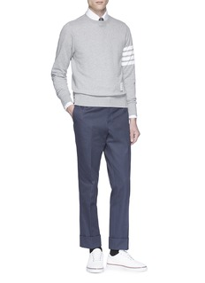 Thom Browne Stripe sleeve sweatshirt