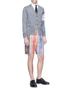Thom Browne Tartan plaid wool shorts