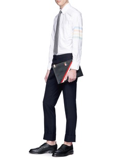 Thom Browne Stripe sleeve Oxford shirt