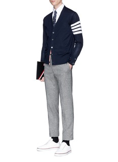 Thom Browne Stripe sleeve wool cardigan