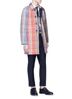 Thom Browne Reversible tartan plaid coat