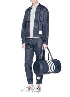 Thom Browne Mesh stripe bomber jacket
