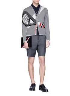 Thom Browne Tennis racket intarsia cashmere cardigan