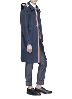 Thom Browne Detachable hood cotton twill parka