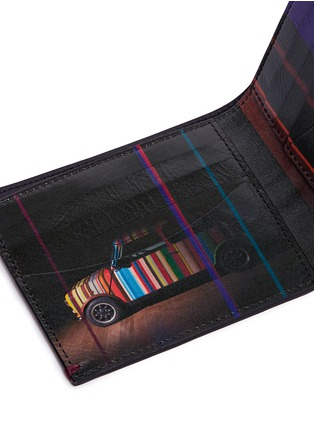 Detail View - Click To Enlarge - Paul Smith - 'Mini Graphic Edge' print interior bifold leather wallet