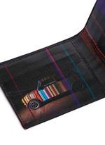 'Mini Graphic Edge' print interior bifold leather wallet