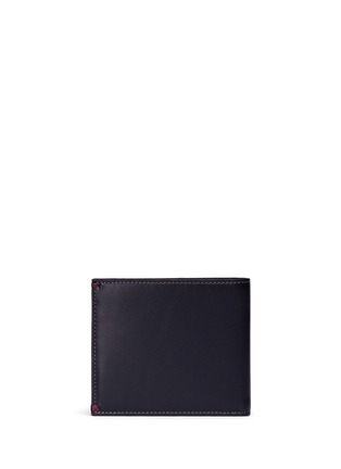 Back View - Click To Enlarge - Paul Smith - 'Mini Graphic Edge' print interior bifold leather wallet
