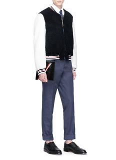 Thom Browne Colourblock shearling jacket